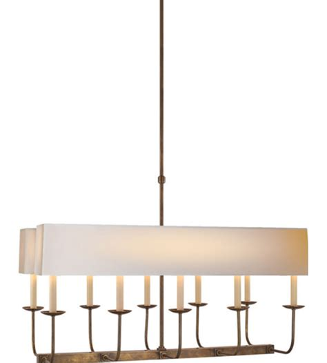 Branched Chandelier Visual Comfort Sl 5863hab Np2 E F Chapman Modern Linear Branched Chandelier In Rubbed