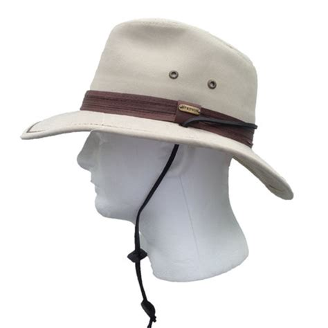 stetson cotton s safari hat sand that way hat new