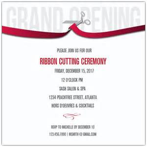 ribbon cutting corporate invitations paperstyle
