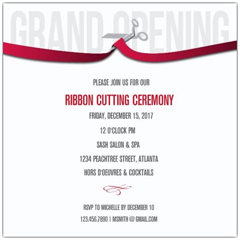ribbon cutting template ribbon cutting corporate invitations paperstyle