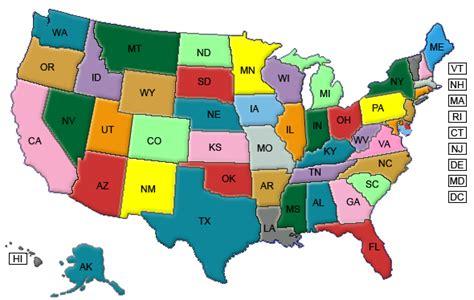 map usa color maps usa map color