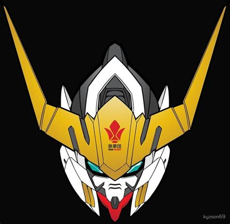 Kaos Anime Gundam Iron Blood Orphan Tekkadan Logo Gundam Barbatos Tekkadan Iron Flower Logo From Iron