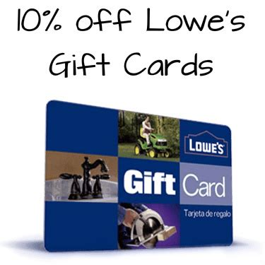 Lowes Gift Card Sale - 10 off 100 lowe s gift card only 90 mybargainbuddy com