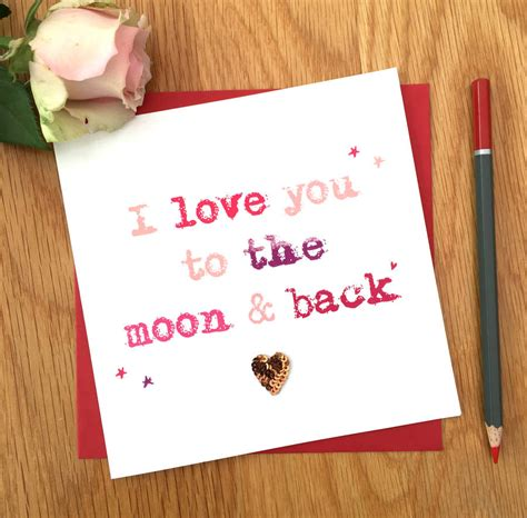 to the moon and back valentines day card template i you to the moon and back s day card by