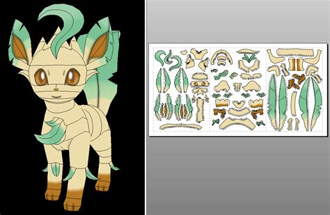 Leafeon Papercraft - leafeon oras version papercraft unfold info by sabi996