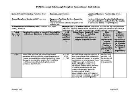impact analysis document template sletemplatess