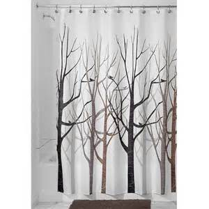 Bed Bath And Beyond Shower Curtain shower curtain tree forest bird black grey brown ebay