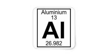 element 013 al aluminium square sticker
