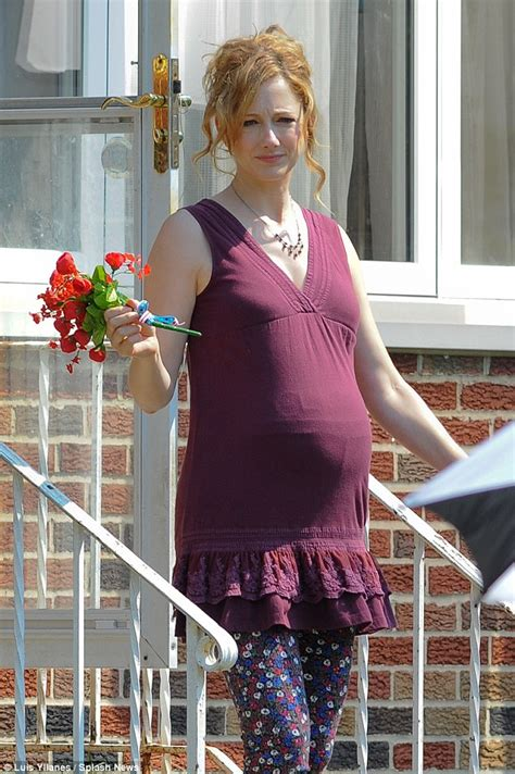 judy greer mom judy greer and her prosthetic pregnant belly join katie