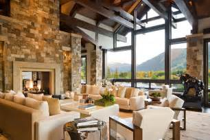 Mountain Home Interiors gorgeous luxury home with staggering view over aspen