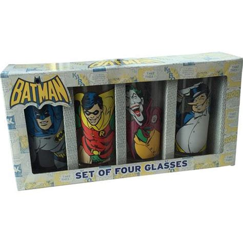 batman classic character glass tumbler set tumblers