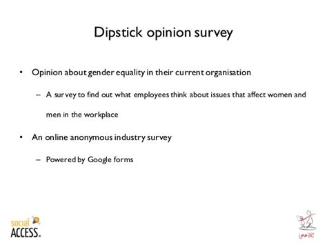 Opinion Survey - worksplace gender equality opinion survey report