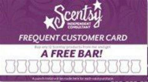 Scentsy Frequent Buyer Card Template by Frequent Customer Card Scentsy Cards