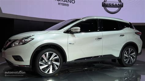 nissan suv 2016 white world premiere for 2016 nissan murano hybrid at auto