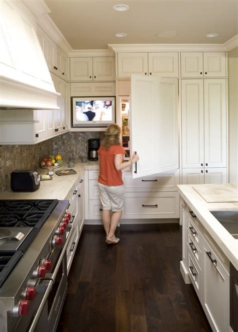 kitchen television ideas tv in kitchen transitional kitchen mueller nicholls
