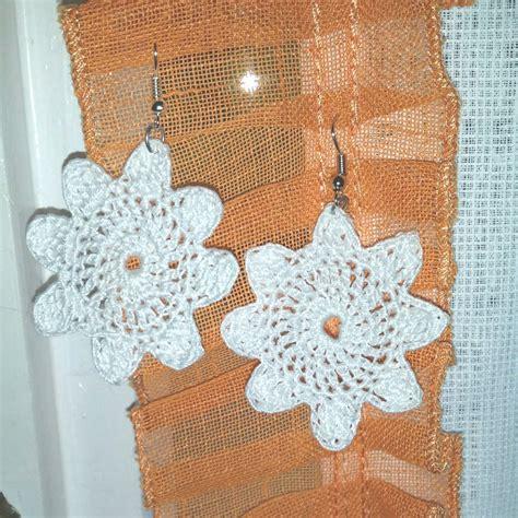 orecchini uncinetto fiore orecchini a uncinetto forma di fiore gioielli
