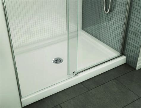 Maax Halo Shower Door Maax 174 B3 48 Quot X 32 Quot Alcove Shower Base With Center Drain At Menards 174
