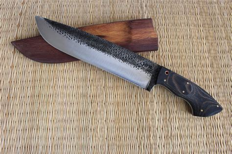 Handmade Forged Knives - forged competition chopper bushcraft knife