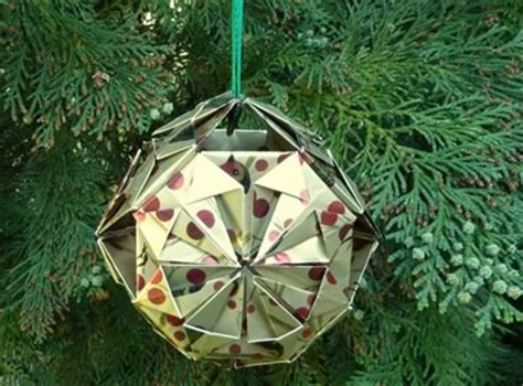 diy ornaments origami easy decorations to make santa claus and