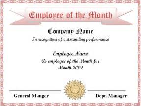 Free Employee Of The Month Certificate Template employee of the month 2