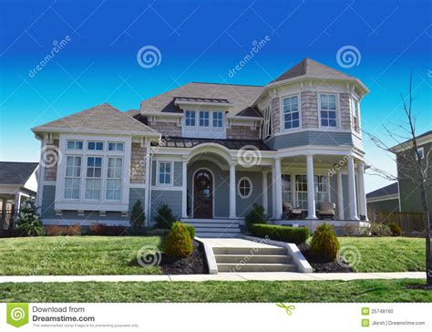 portrait house new england style cape cod dream home stock photo image