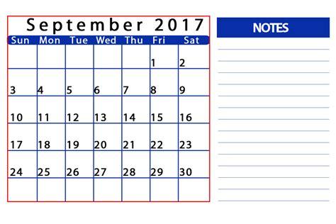 September 2017 Calendar Editable Calendar Template Letter Format Printable Holidays Usa Uk Editable Calendar Template