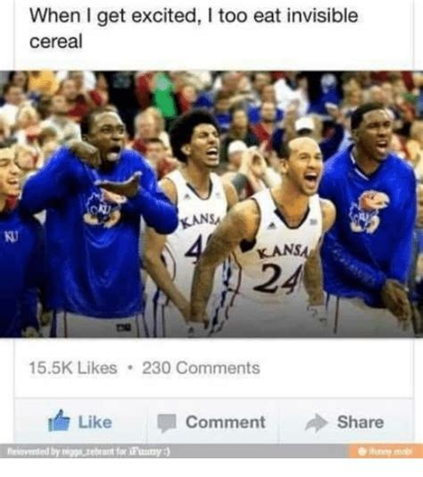 Invisible Cereal Meme - when i get excited i too eat invisible cereal kans 24 155k
