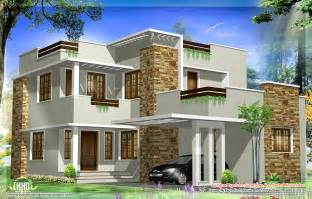 Kerala Home Design Elevation 1793 Square Feet Modern House Elevation House Design Plans