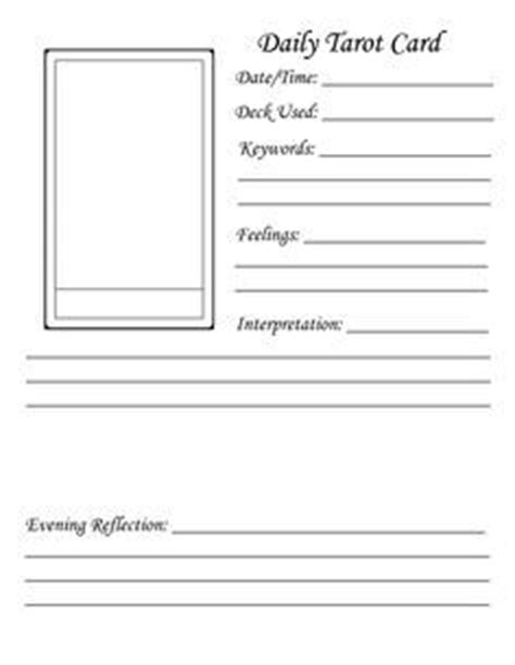 orcale card printing template illustrator tarot journal template the tarot workbook by nevill drury