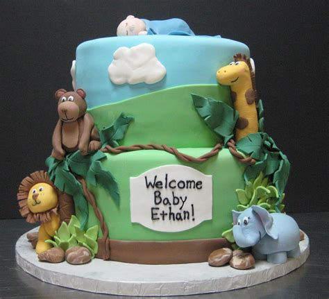 Jungle Baby Shower Cake by 30 Staggering Pictures Of Baby Shower Cakes Slodive