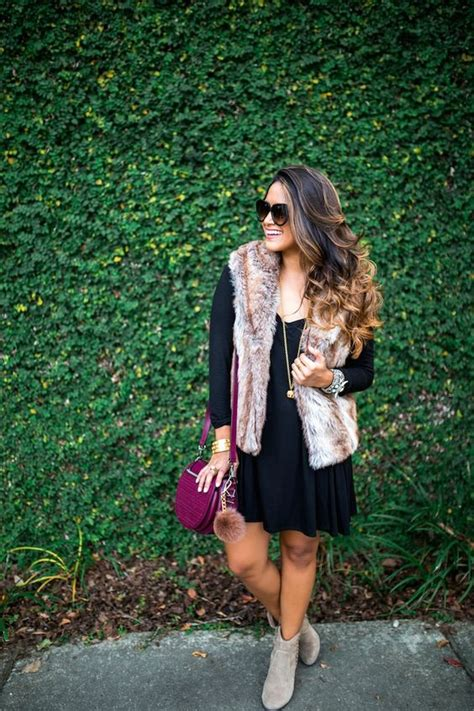 Dear Fashion Mafia Black Sweater Fur Sleeves by Faux Fur Vests Black Dress Sleeve And Fall Booties