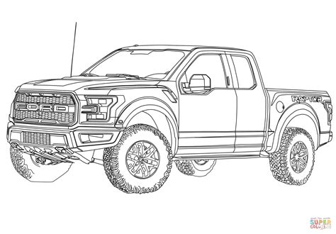 ford trucks coloring page 2017 ford f 150 raptor coloring page free printable