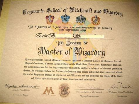 Acceptance Letter For Hogwarts School Of Witchcraft And Wizardry Witchcraft Hogwarts And Schools On