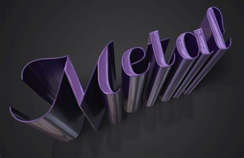 tutorial photoshop cs6 text effects create a sleek metallic 3d text effect in photoshop cs6