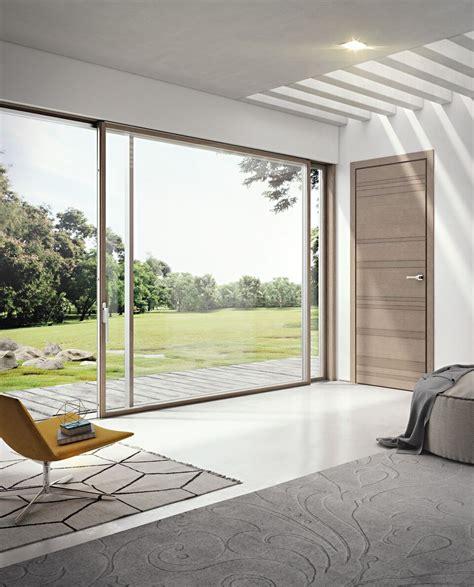 porta finestra scorrevole porta finestra scorrevole in alluminio e legno slim 80 la