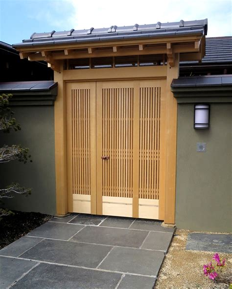 Japanese Exterior Doors Japanese Style Entrance Gate Japanese Door Tiburon Ca