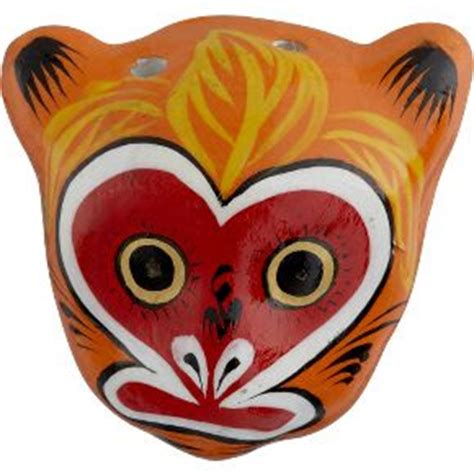 new year monkey mask chinoiserie chic beijing opera ornaments