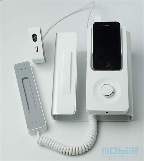 iphone desk phone with speakerphone dock review mobile
