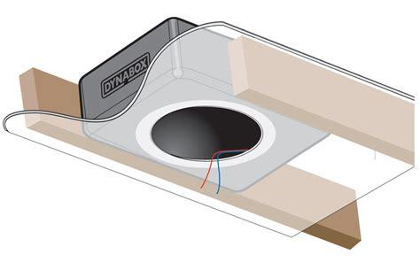 in ceiling speaker box dynamat dynabox in ceiling speaker enclosure single unit