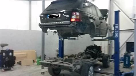 range rover sport engine range rover sport in half by mechanics just to