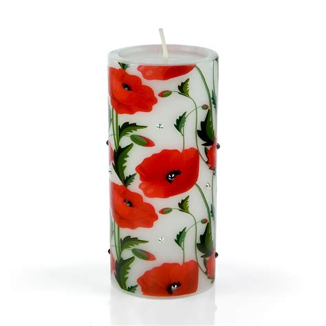 decorative flower candles decorative luxury flower candle red poppy flowers i from