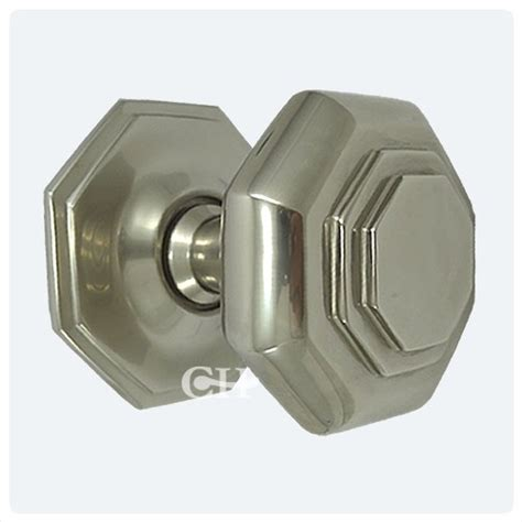 4185 flat octagonal centre door knobs in nickel or