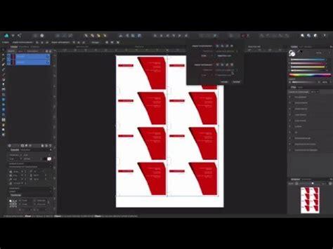 Business Card Design Affinity Msysoft Com Affinity Designer Business Card Template