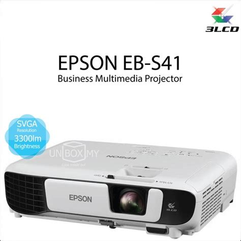Projector Proyektor Epson Eb S400 1 epson eb s41 3lcd svga projector unbox my