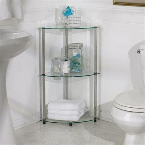 3 tier corner shelf bathroom classic glass three tier corner shelf modern bathroom cabinets and shelves by wayfair