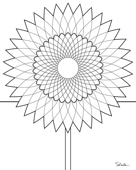 sunflower mandala coloring pages don t eat the paste sunflower coloring page
