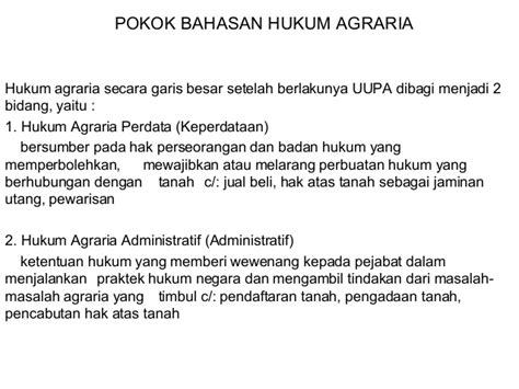 Hukum Agraria Indonesia Sejarah Pembentukan Boedi Harsono hukum agraria