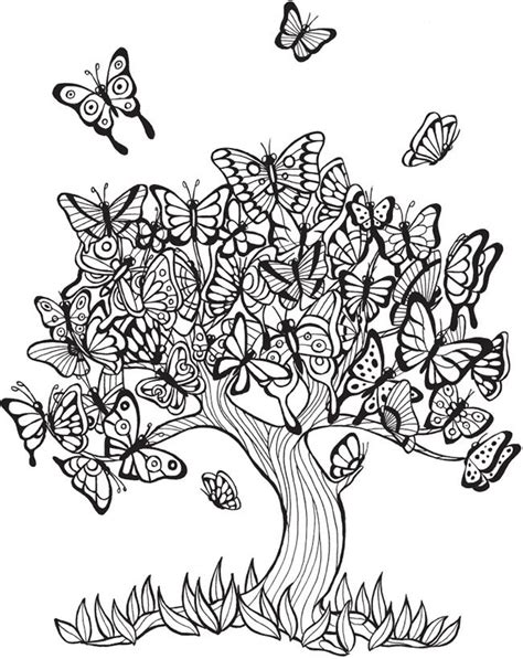 coloring pages for adults calming keep calm and color tranquil trees coloring book