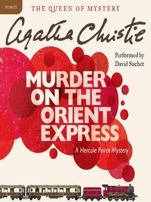 Novel Murder On The Orient Express Cover Agatha Christie david suchet 183 overdrive rakuten overdrive ebooks