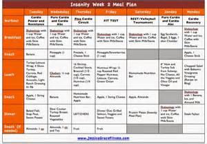 grace fitness insanity week 2 meal plan